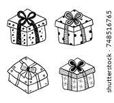 gift boxes | Shutterstock .eps vector #748516765