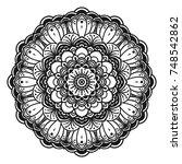 decorative hand drawn mandala   Shutterstock .eps vector #748542862