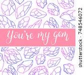 valentine's day love greeting...   Shutterstock .eps vector #748546072