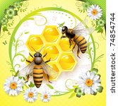 Two Bees And Honeycombs...