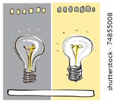 light bulb dynamic freehand... | Shutterstock .eps vector #74855008