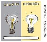 light bulb dynamic freehand... | Shutterstock .eps vector #74855008