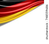 germany flag of silk with... | Shutterstock . vector #748559686