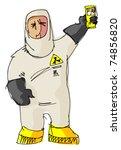 destructor   man in protective... | Shutterstock .eps vector #74856820