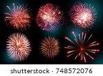 fireworks | Shutterstock . vector #748572076