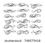 set of decorative elements.... | Shutterstock .eps vector #748575418