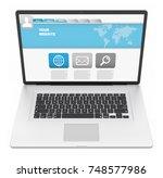 modern digital silver and black ... | Shutterstock . vector #748577986