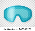 safety glasses on a transparent ... | Shutterstock .eps vector #748581262