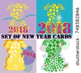 happy new year 2018 background... | Shutterstock .eps vector #748582846