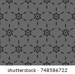 geometric shape abstract  ... | Shutterstock . vector #748586722
