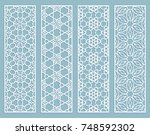 decorative geometric line... | Shutterstock .eps vector #748592302