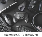 top view of gamer concept with... | Shutterstock . vector #748603978