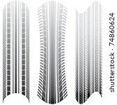 special tire tracks | Shutterstock .eps vector #74860624