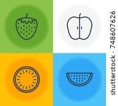 vector illustration of 4... | Shutterstock .eps vector #748607626