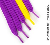 multi colored shoelaces for... | Shutterstock . vector #748611802