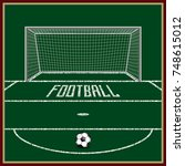 football field. on the grass... | Shutterstock .eps vector #748615012