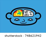 a head icon representing the... | Shutterstock .eps vector #748621942