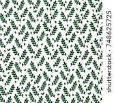 vector background with green... | Shutterstock .eps vector #748625725