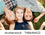 having best time with friends.... | Shutterstock . vector #748646422
