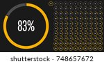 set of circle percentage... | Shutterstock .eps vector #748657672