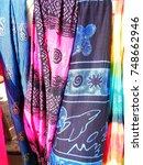colorful beach wear in sri... | Shutterstock . vector #748662946