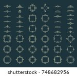 huge rosette wicker border... | Shutterstock .eps vector #748682956