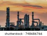 gas turbine electrical power...   Shutterstock . vector #748686766