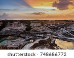 opencast mining quarry with...   Shutterstock . vector #748686772