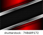 abstract gray circle mesh... | Shutterstock .eps vector #748689172