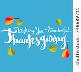 wishing you a wonderful... | Shutterstock .eps vector #748689715