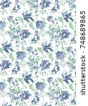 floral seamless pattern   Shutterstock . vector #748689865