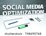 social media optimization  ... | Shutterstock . vector #748690768