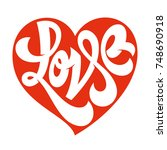 love typography. love logotype. ... | Shutterstock .eps vector #748690918