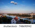 slovakia  bratislava skyline ... | Shutterstock . vector #748690942
