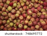 red apple texture  lots of red... | Shutterstock . vector #748695772