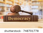 Democracy Law Books And A Judge ...