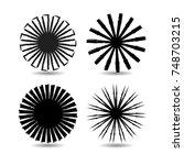 circle form . spiral vector...   Shutterstock .eps vector #748703215
