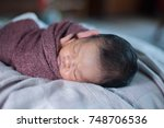 beautiful portraiture of a new... | Shutterstock . vector #748706536