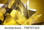 polygonal gold mosaic... | Shutterstock . vector #748707265