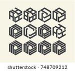 modern logo design | Shutterstock .eps vector #748709212
