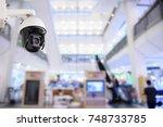 security cctv camera or... | Shutterstock . vector #748733785