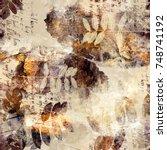 scrapbook background   letters  ... | Shutterstock . vector #748741192