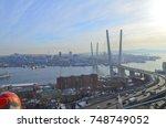vladivostok  golden bridge | Shutterstock . vector #748749052