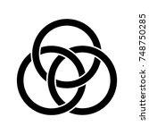 woven celtic knot | Shutterstock .eps vector #748750285