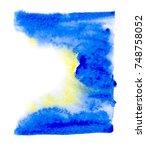 watercolor blotch | Shutterstock . vector #748758052