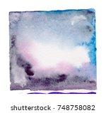watercolor blotch | Shutterstock . vector #748758082