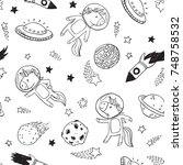 a cute repeat pattern of...   Shutterstock .eps vector #748758532
