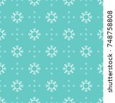 pattern seamless snowflake for... | Shutterstock .eps vector #748758808