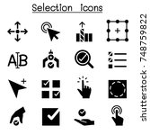 selection icon set vector...