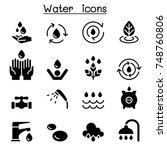 water icon set vector...